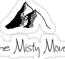 The Misty Mountains Cold Sticker