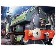 Steam engine - Sir Cecil A Cochrane Poster