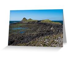 Worm's Head, Gower Greeting Card