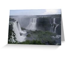 Iguazo Falls, Brazil and Argentina Greeting Card