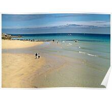Sea Sand & Sun, St. Ives, Cornwall, UK, 1990 Poster