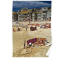 St. Ives Harbour, Cornwall, UK 1990 Poster