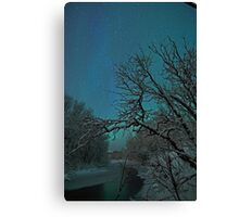 Aurora Borealis / North Light by the creek Canvas Print