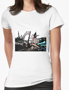 Riding Pterodactyls Womens Fitted T-Shirt