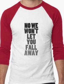 Fall Away (black) Men's Baseball ¾ T-Shirt