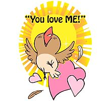 Little happy bird saying you love me! Photographic Print