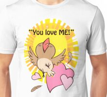 Little happy bird saying you love me! Unisex T-Shirt
