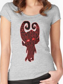 devil hell underground Women's Fitted Scoop T-Shirt