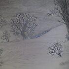 A Snowy Walk by MicRiddy