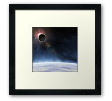 Outer Atmosphere of Planet Earth Framed Print