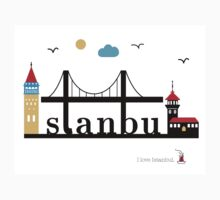 I love Istanbul. One Piece - Short Sleeve