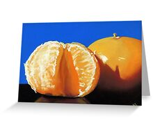 clementine oranges- still life painting Greeting Card