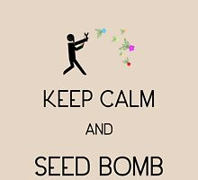 Keep Calm and Seed Bomb Womens Fitted T-Shirt