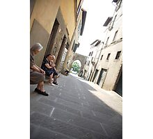 peoplescapes #220, doorsteps Photographic Print