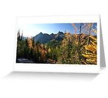 Cascade Mountain Larches Greeting Card