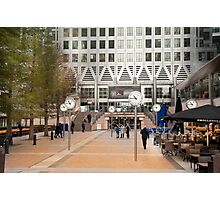 Time Check: Canary Wharf, London, UK. Photographic Print