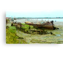 Hull Down in the Mud Canvas Print
