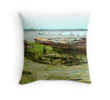 Hull Down in the Mud Throw Pillow