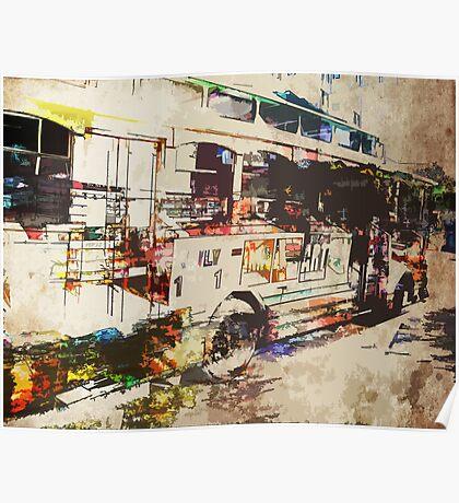 Double Decker Bus Poster