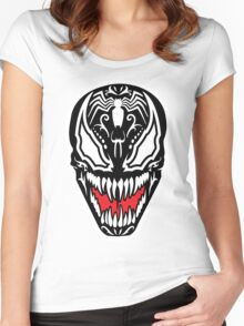 Venom Sugar Skull Women's Fitted Scoop T-Shirt