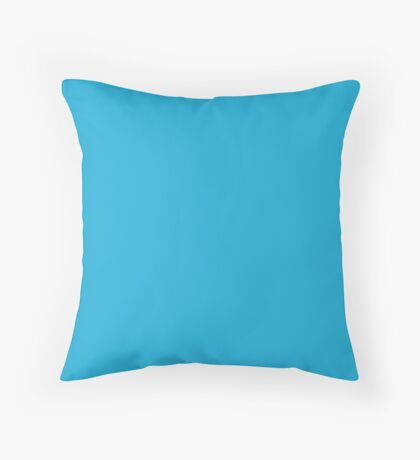 Bright Cerulean  Throw Pillow
