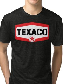 TEXACO OIL RACING VINTAGE LUBRICANT Tri-blend T-Shirt