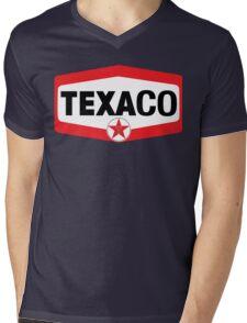 TEXACO OIL RACING VINTAGE LUBRICANT Mens V-Neck T-Shirt