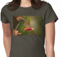 Painted Lady's summer profile Womens Fitted T-Shirt