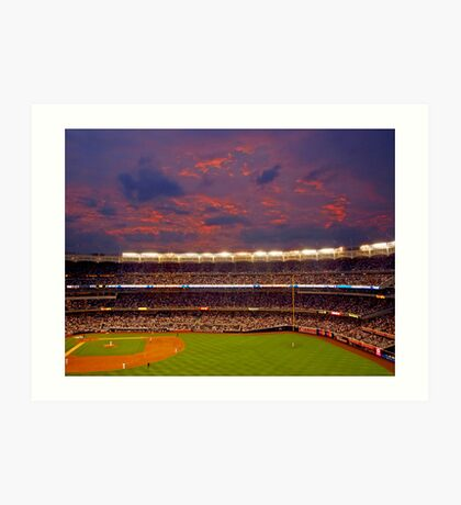 Sunset at Yankee Stadium Art Print