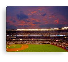 Sunset at Yankee Stadium Canvas Print