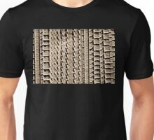 Tire Tracks in Sand and Sepia Unisex T-Shirt