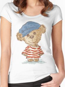 Teddy bear and clothes Women's Fitted Scoop T-Shirt