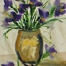 Iris - from my garden by Margaret Morgan (Watkins)