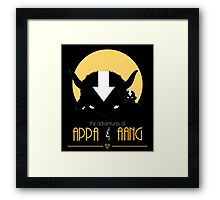 The Adventures of Appa and Aang Framed Print