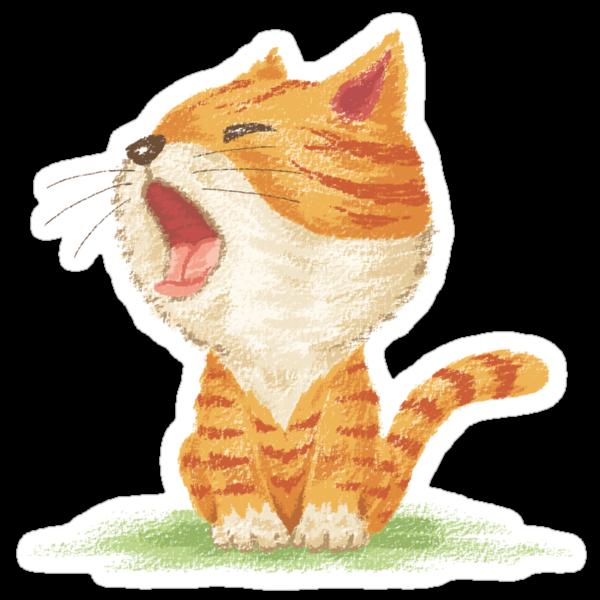 Tabby to yawn by Toru Sanogawa