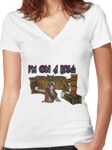 I'm On A Brig Women's Fitted V-Neck T-Shirt