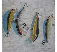 """Four fishing lures"" Photographic Print"
