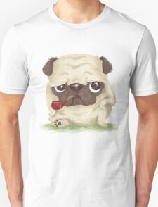 Pug which held the pipe in its mouth Unisex T-Shirt