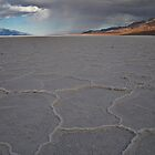 Badwater, Death Valley Rain Fall by Bob Moore