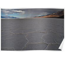 Badwater, Death Valley Rain Fall Poster