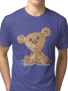 Teddy bear sitting Tri-blend T-Shirt