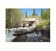 Water under the Bridge, RMN Park Colorado Art Print
