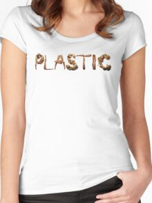 Plastic Women's Fitted Scoop T-Shirt