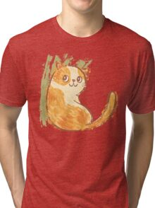 Smile of fat cat Tri-blend T-Shirt
