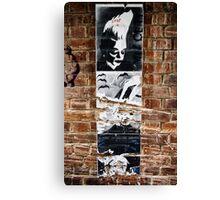 Stencil Art & Bricks - Brisbane CBD Canvas Print