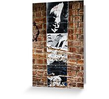 Stencil Art & Bricks - Brisbane CBD Greeting Card