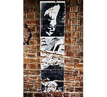 Stencil Art & Bricks - Brisbane CBD Photographic Print