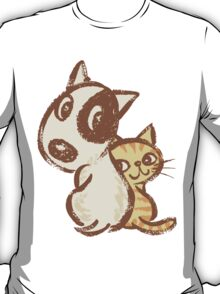 Dog and cat are turning around T-Shirt