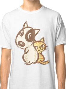 Dog and cat are turning around Classic T-Shirt