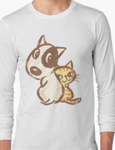 Dog and cat are turning around Long Sleeve T-Shirt